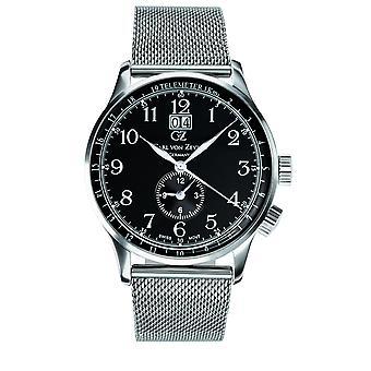 Carl of Zeyten men's watch wristwatch quartz Etterlin CVZ0006BKMB