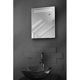 Weerspiegelen Ultra-Slim LED badkamer spiegel met ontwasemer Pad & Sensor k8