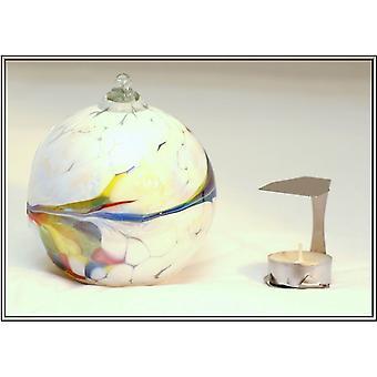 Milford colección colgantes de cristal del Tealight - blanco
