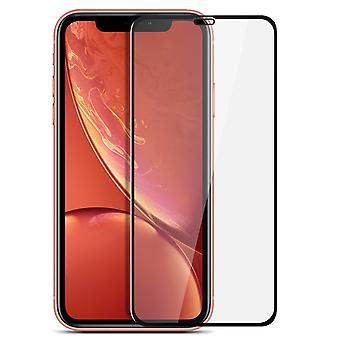 9H tempered glass screen protector for Apple iPhone XR, colored edges – Black