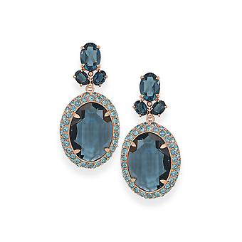 Blue earrings with crystals from Swarovski 4803