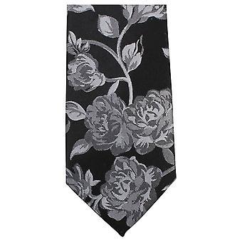 Cravatte di Knightsbridge grassetto floreale cravatta - nero/grigio