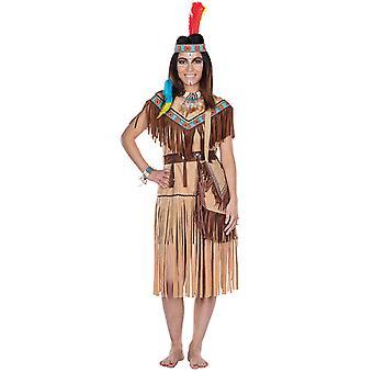 Cherokee Intian puku vain valon ruskea Intian länsimaisen mekko naisille