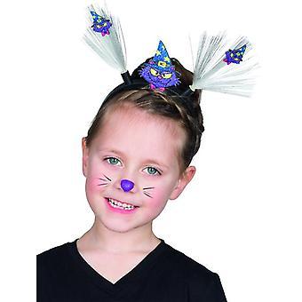 Magiske kat LED hårbånd til børn tilbehør heks kostume Halloween Carnival