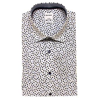 OLYMP Olymp Shirt 1084 32 11 Short Sleeve Blue