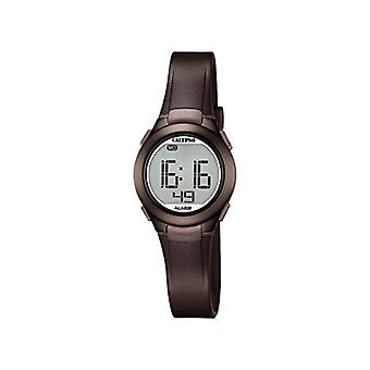 Calypso-Unisex digital watch with LCD Digital Display and plastic strapping, color: Brown, K5677/6