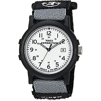 Timex Expedition T49713 Analog armbandsur, vit/svart