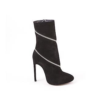 Alaïa 4w3t050cc05 Women's Black Suede Ankle Boots