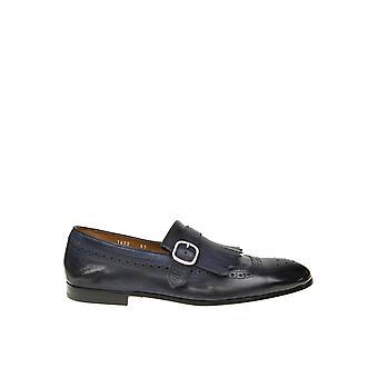 Doucal's Du1622capruf036nb00 Men's Blue Leather Monk Strap Shoes