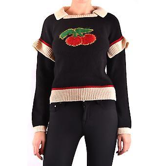 Filosofia Por Lorenzo Serafini Ezbc087013 Women's Black Wool Sweater