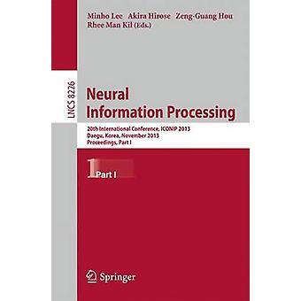 20a Conferencia Internacional de procesamiento de la información neural ICONIP 2013 Daegu Corea noviembre 37 2013. Procedimiento parte I por Lee & Minho