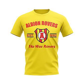 Albion Rovers établi Football T-Shirt (jaune)