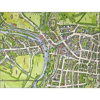 Stadsbilder Street karta över Windsor 400 bit pussel 470 x 320 mm (HTF)
