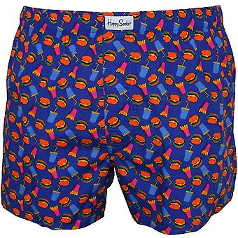 Happy Socks Hamburger & Fries Boxer Short, Blue
