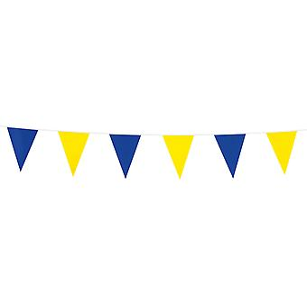 Flaggirlang   Vimpelgirlang   Pennant Yellow and blue - 3 m.