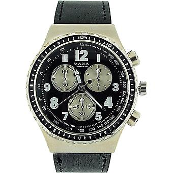 Zaza London Chronograph Effect Black PU  Strap Gents Casual Watch MLB458