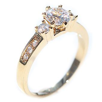 Simulado Diamon ouro anel preenchido, carimbado GL