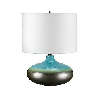 Elstead-1 candeeiro de mesa pequeno luz-turquesa, acabamento em esmalte grafite-LAGUNA/TL SM