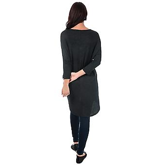 Womens Vero Moda Paya V-Neck Longline Jersey Top In Black