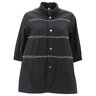 Moncler Genius 490048554155999 Women's Black Nylon Outerwear Jacket