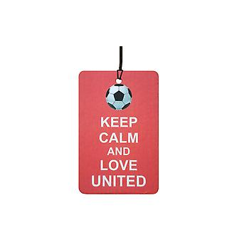Keep Calm And Love Man Utd Car Air Freshener