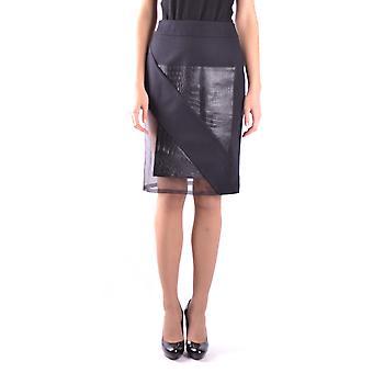 Yohan Kim Ezbc303001 Women's Black Leather Skirt