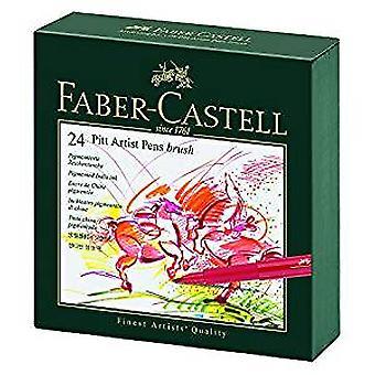 Faber-Castell Pitt Artist Pen Gift Box of 24 Colours (FC-167147)
