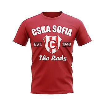 CSKA Sofia opgericht voetbal T-shirt (rood)