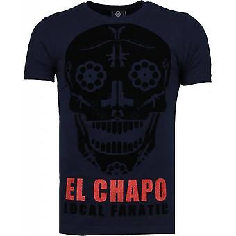 El Chapo-Flockprint T-shirt-Navy