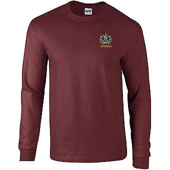 Queens oma Cameron Highlanders Veteran-lisensoitu Britannian armeijan kirjailtu pitkähihainen T-paita