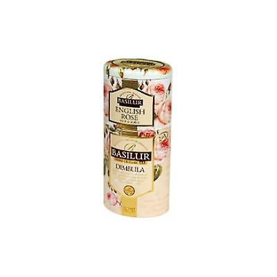 Ceylon Tea With English Rose&dimbula Regional Leaf Tea-tin Caddy