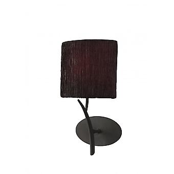 Mantra Eve Wall Lamp Switched 1 Light E27, Antracite With Black Oval Shade