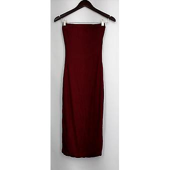 Immagine Nazione Gonna Allunga maglia Elastica Vita Maxi Stile Rosso Donne