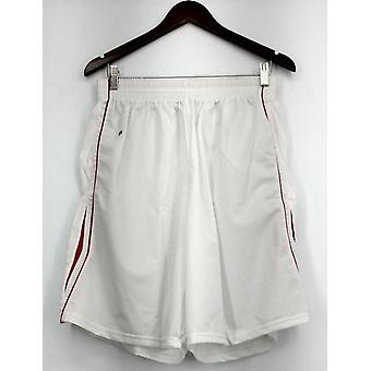 Holloway (XXL) Athletic Mesh Shorts White w/ Red Accent Stripes Womens