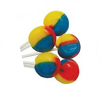 5 zakje van 5 Tutti Frutti gearomatiseerde lichte Mega lollies