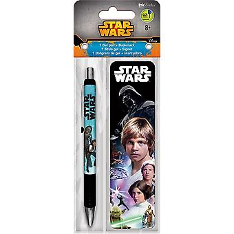 Gel Pen - Star Wars - w/Bookmark Packs Toys Gifts Papery New iw3564