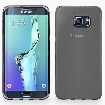 Samsung Galaxy S6 Edge Plus Silikon fall Transparent Svart - CoolSkin3T