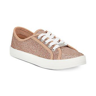 Bebe Womens Dane Fabric Low Top Lace Up Fashion Sneakers