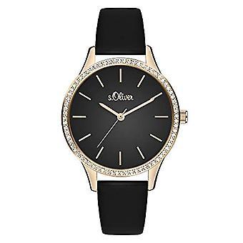s. Oliver Quartz naisten analoginen kello SO-3831-LQ nahkavyö