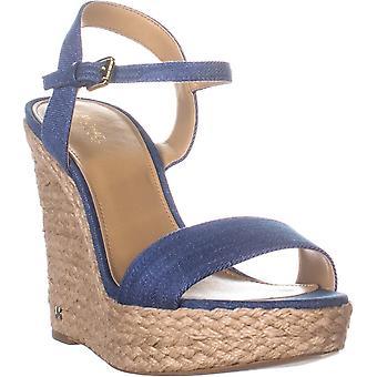 Michael Kors Womens Jill Fabric Open Toe Special Occasion Slingback Sandals