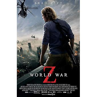 World War Z Poster Double Sided Regular (2013) Original Cinema Poster