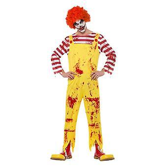 Miesten kreepy Killer Clown Halloween Fancy mekko puku