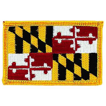 Patch Ecusson brode flag Maryland Thermo Collant USA Americain Danmark