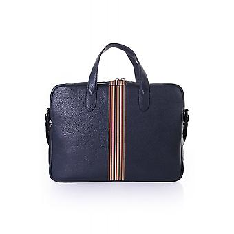 Paul Smith Accessories Mens Business Folio With Signature Stripe
