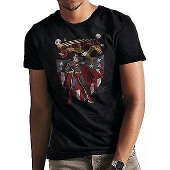 Superman-Escudo e T-Shirt da águia