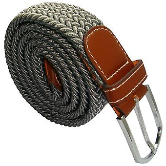 Bassin and Brown Chevron Stripe Elasticated Woven Belt - Grey