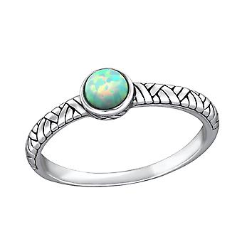 Oxidized - 925 Sterling Silver Jewelled Rings - W32430X