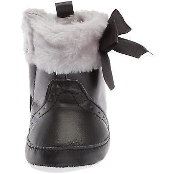 Luvable vrienden Kids' Faux Fur bijgesneden laarzen met strik voederbak schoen