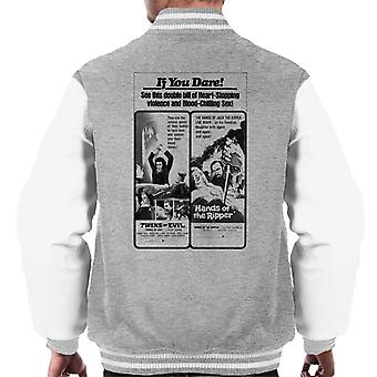 Hammer Horror Films Twins Ripper Heart Stopping Shows Men's Varsity Jacket