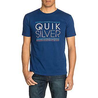 Quiksilver run BCR Short Sleeve T-shirt in landgoed blauw